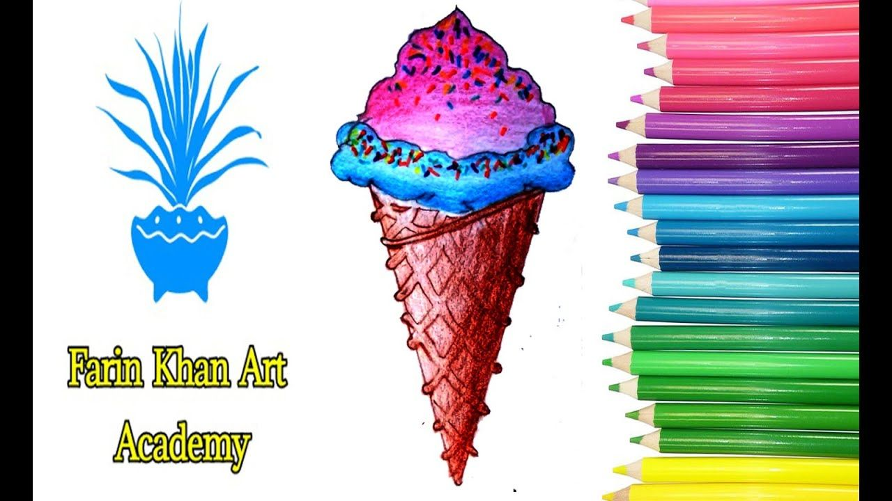 How To Draw Ice Cream Ice Cream Drawing رسم ايس كريم كيوت Draw Ice Cream Drawing For Kids Ice Cream Pictures