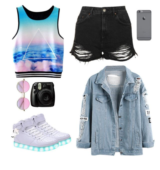 """""""A Day In The City #3"""" by lux-music ❤ liked on Polyvore featuring Topshop and Fujifilm"""