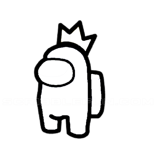 Among Us Character Wearing A Crown In 2021 Cute Coloring Pages Art Drawings Sketches Simple Art Drawings For Kids
