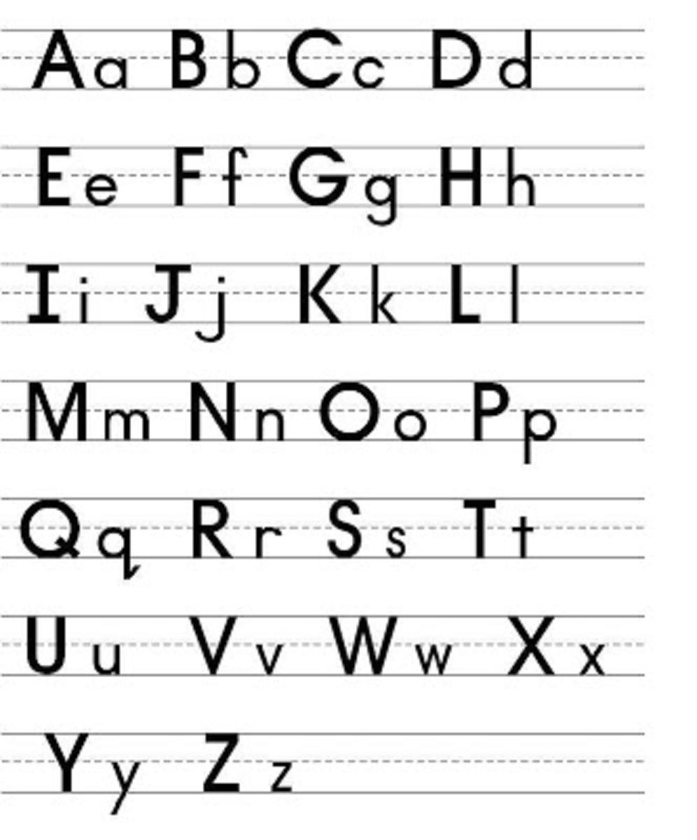 Capital And Lowercase Letters To Print Kiddo Shelter