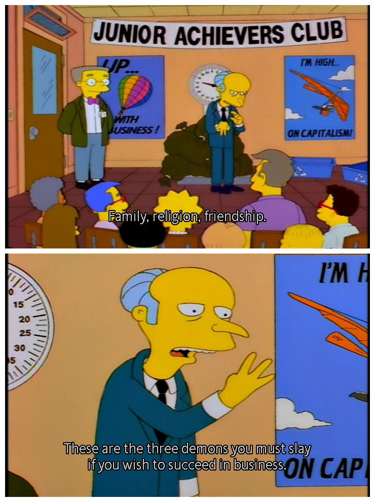 Simpsons scene Simpsons funny, Simpsons quotes, The