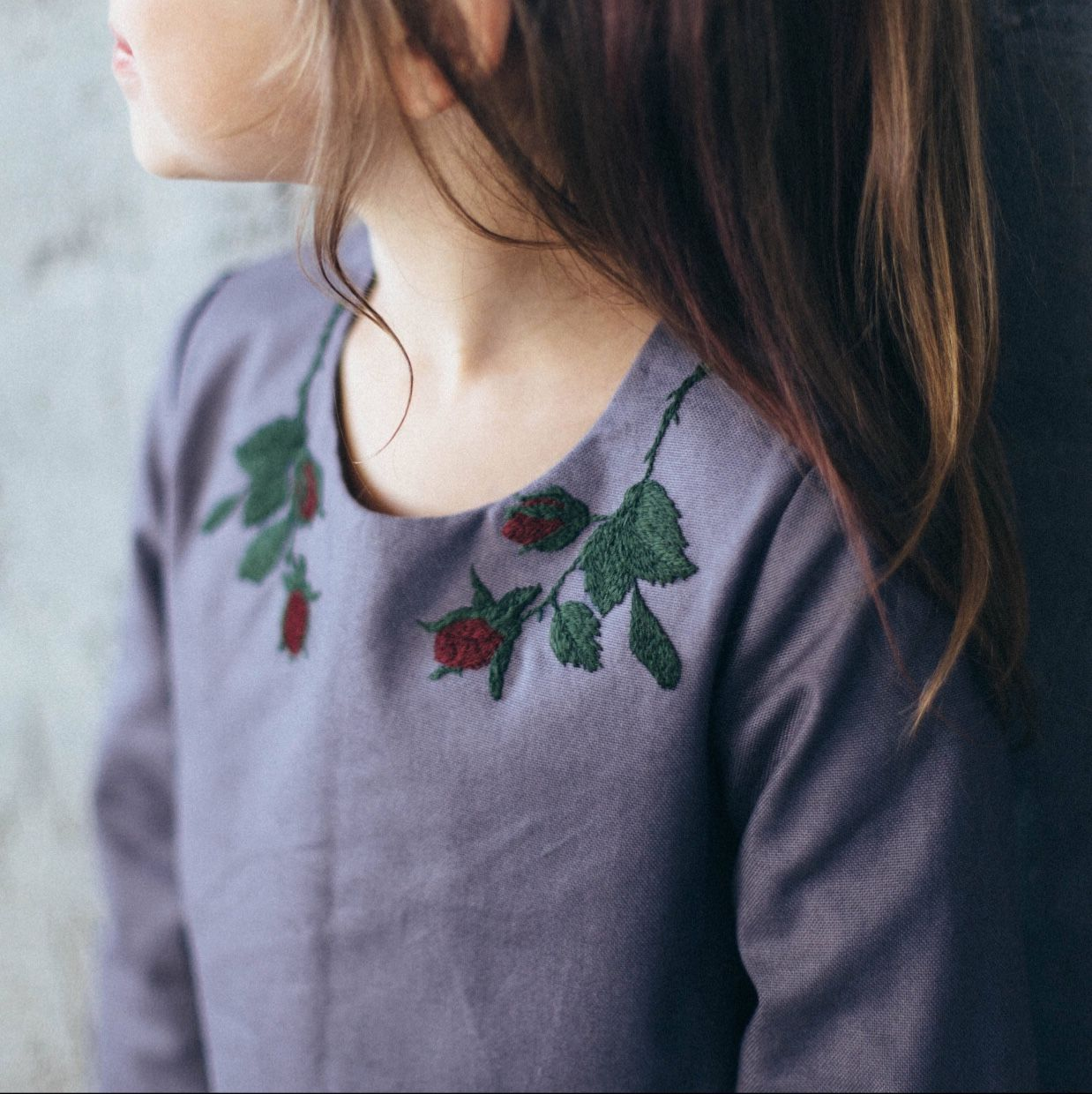 handmade girls embroidered fall winter dress by tinybunnykids on