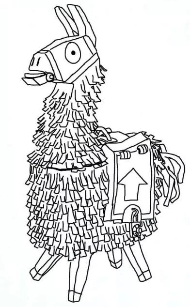 Llama De Fortnite Para Dibujar Facil Fortnite Code Generator Pc Dibujos Dibujos Gratis Dibujos Para Colorear Faciles