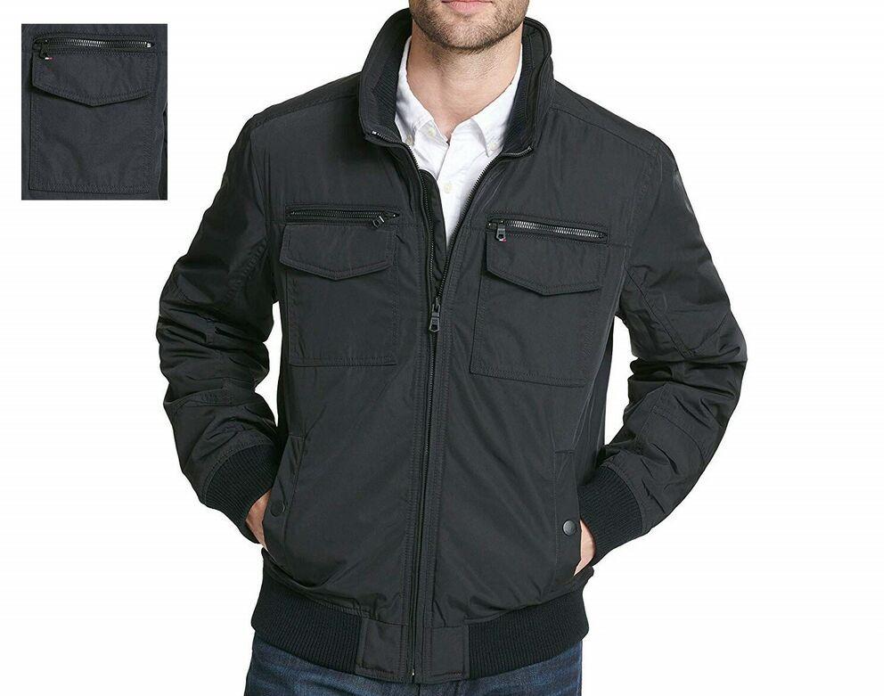 Tommy Hilfiger men's jacket performance bomber sizes XL XXL NEW  #TommyHilfiger #Windbreaker | Mens jackets, Mens jacket black, Hooded jacket  men