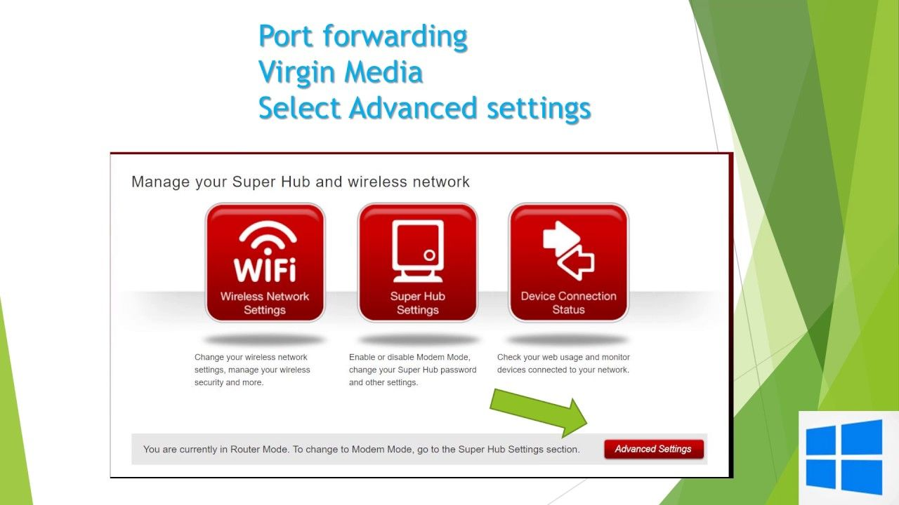 How to setup Port Forwarding on a BT Hub and Virgin Media router