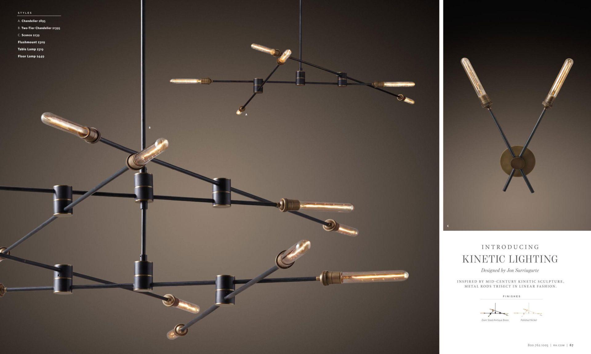 Rh Kinetic Lighting Design Ceiling