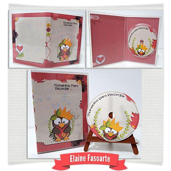 Fiz também um DVD com Momentos para recordar usando o Kit Meu Leãozinho de Fa Maura **