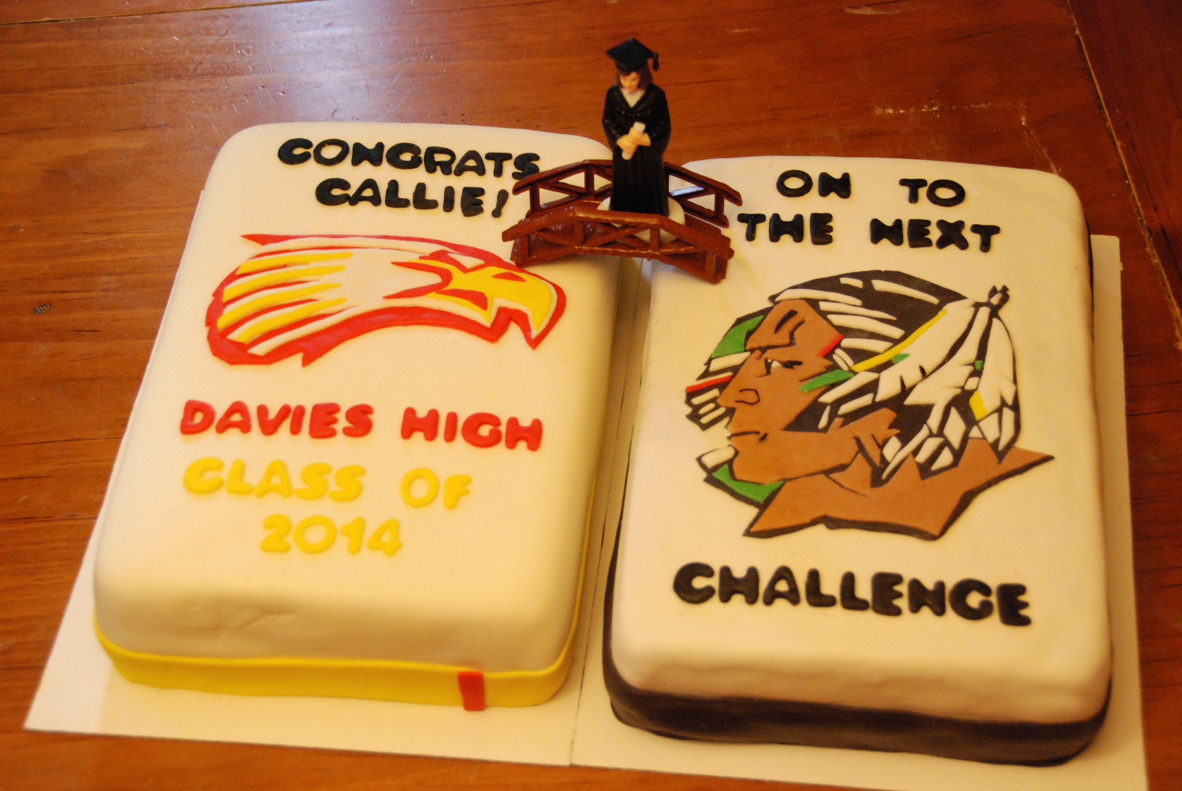 High School To College Cake Graduation Cake Davies High School