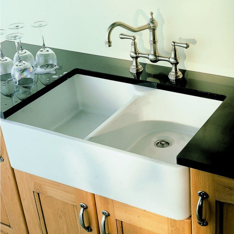 Villeroy and Boch Farmhouse 80 Double Bowl Ceramic Sink | Kitchen ...