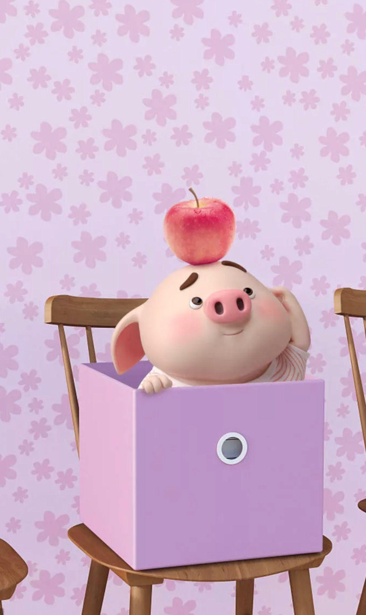 Pin Oleh Tata Di Pigs Bayi Babi Wallpaper Ponsel Ilustrasi Lucu