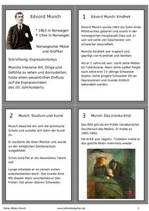 Maler Und Ihre Bilder Edvard Munch Kunst Kunst Grundschule Edvard Munch