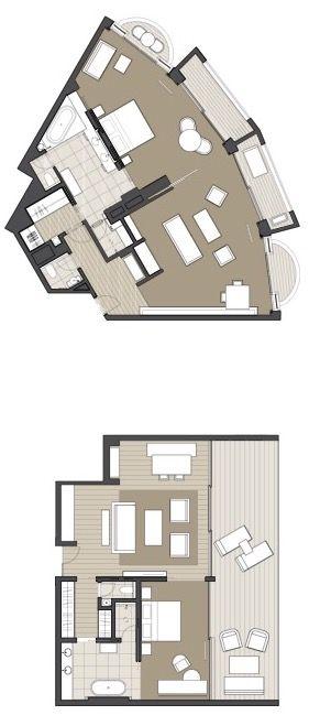Park Hyatt Sydney Suite Room Guest Room Floor Plan
