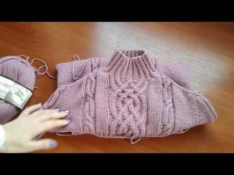 Ютуб вязание на спицах свитера 45