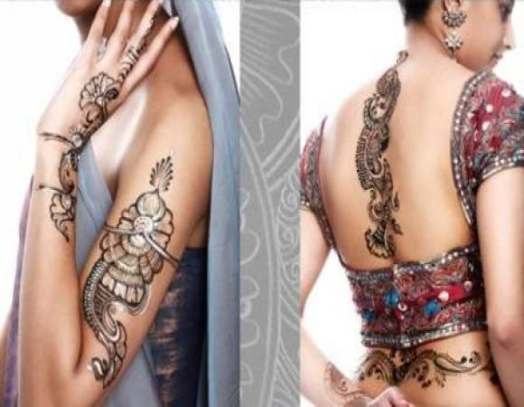 Mehndi Back Tattoo Designs : Henna tattoo design back tattoos