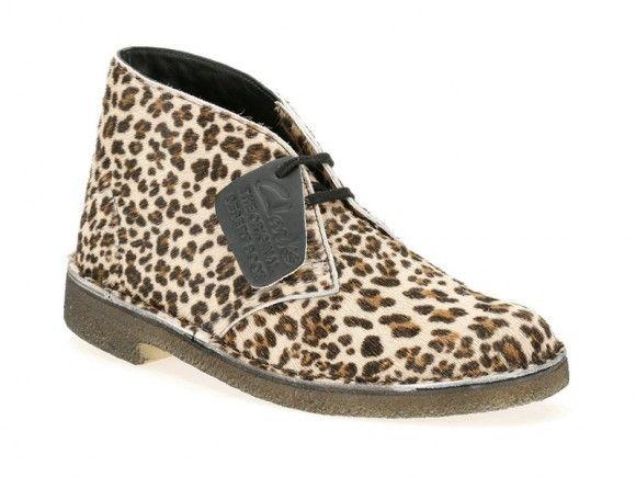 <3 Clarks Leopard print calf hair desert boots
