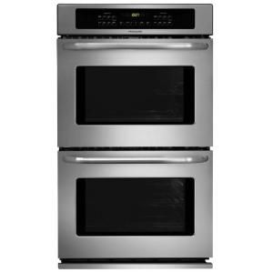 Frigidaire 30 In Double Electric Wall Oven Self Cleaning In Stainless Steel Ffet3025ps The Home Depot Wall Oven Electric Wall Oven Stainless Steel Oven