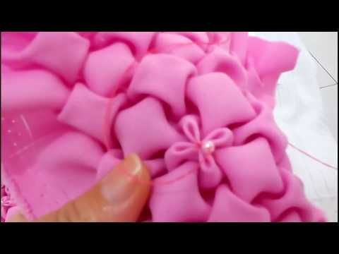 Capitonê Ponto Florzinha Youtube Smocking Patterns Smocking Tutorial Fabric Manipulation Techniques