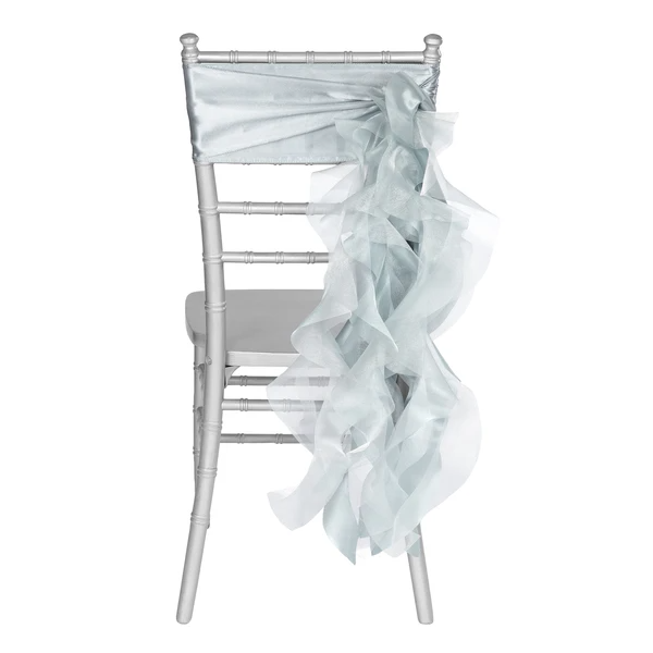 Curly Willow Chair Sash Dusty Blue in 2020 Chair sash