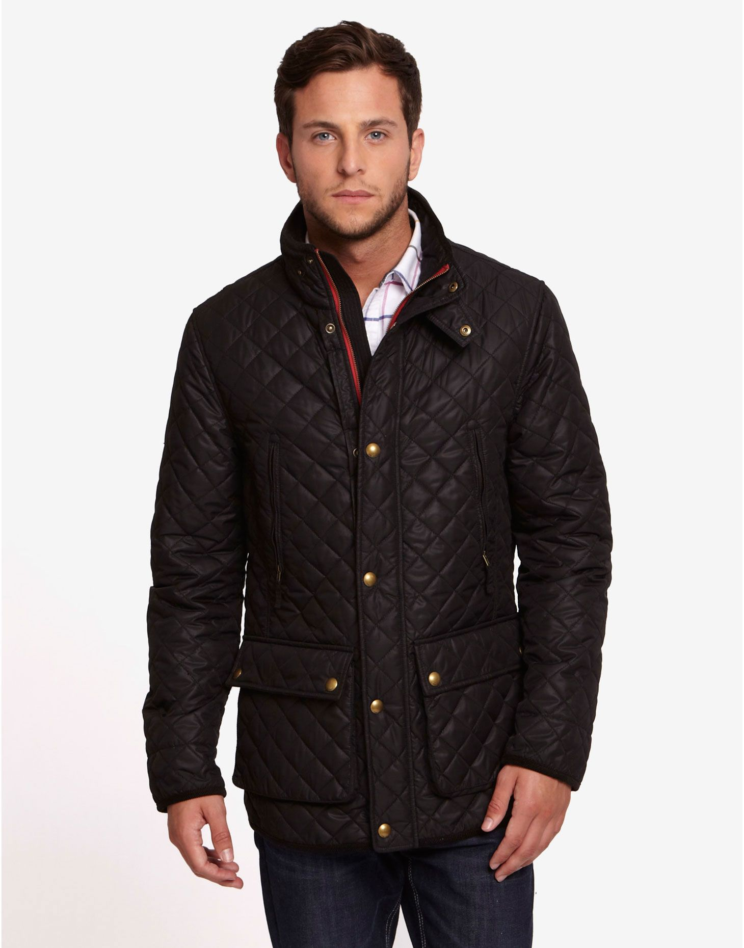 Quilted Mens Coat Sm Coats