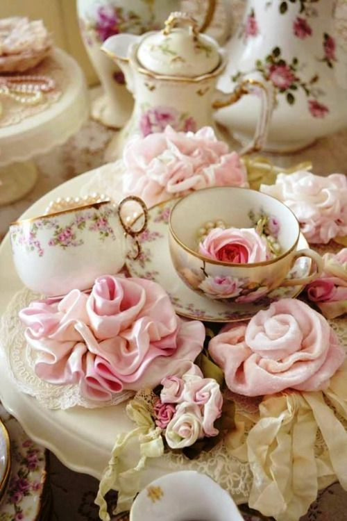 Roses and teacups.