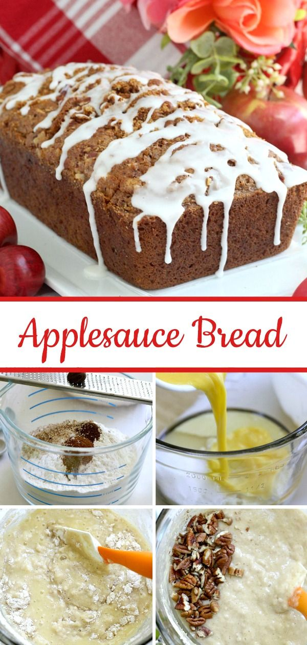 Frosted Applesauce Bread images