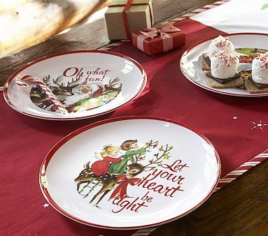 Santa u0026 Heart Christmas Plate Set #pbkids. Imagine the kids eating off these plates for Christmas. What fun! & Santa u0026 Heart Christmas Plate Set #pbkids. Imagine the kids eating ...