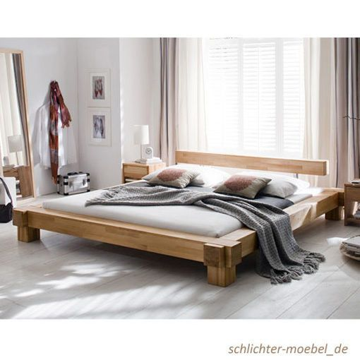 details zu holzbett massivholzbett doppelbett massiv kernbuche bett cielo 200x200 neu ideen. Black Bedroom Furniture Sets. Home Design Ideas
