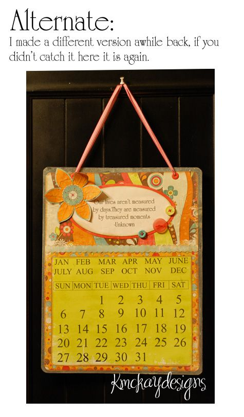 another perpetual calendar Ideas to copy! Pinterest Perpetual