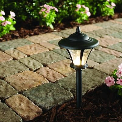 Hampton Bay Low Voltage Led Black Metal Coach Path Light 6 Pack 29156 The Home Depot Outdoor Path Lighting Hampton Bay Outdoor Landscape Lighting