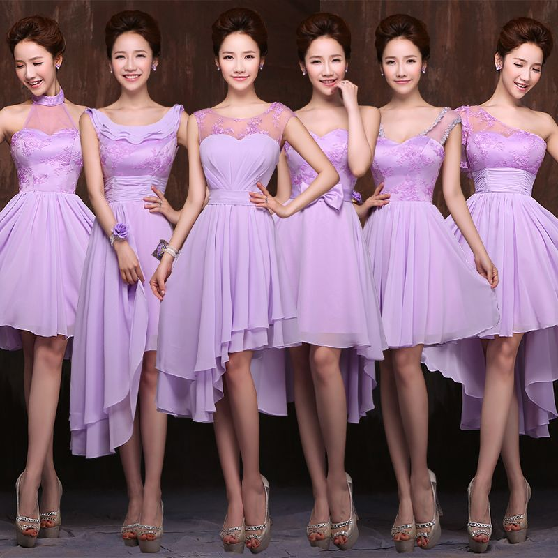 maids of honor pastel color short dresses - Google Search | robes ...