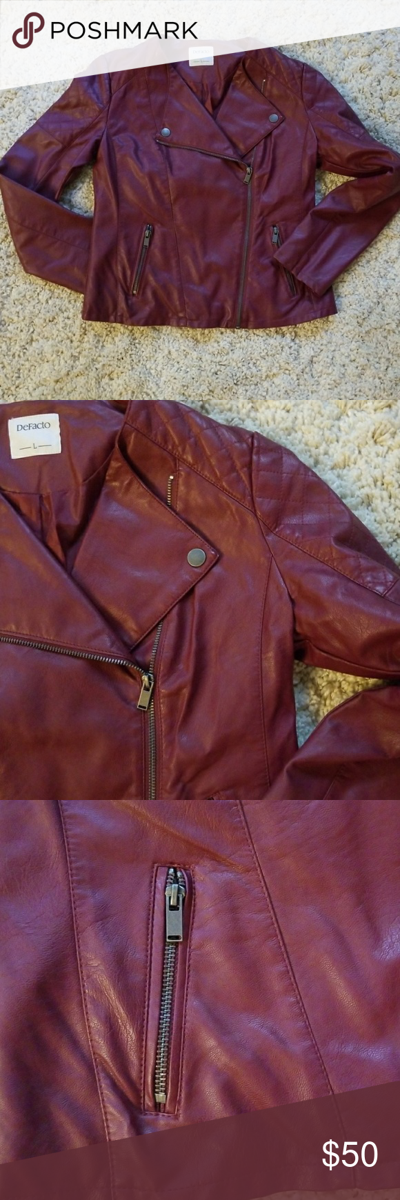 Leather jacket SIZE L cherry Leather jacket SIZE L made in