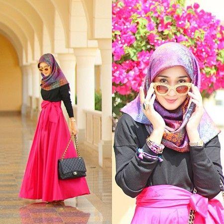 Warna Warni Inspirasi Baju Muslim Cantik Ala Dian Pelangi Hijab