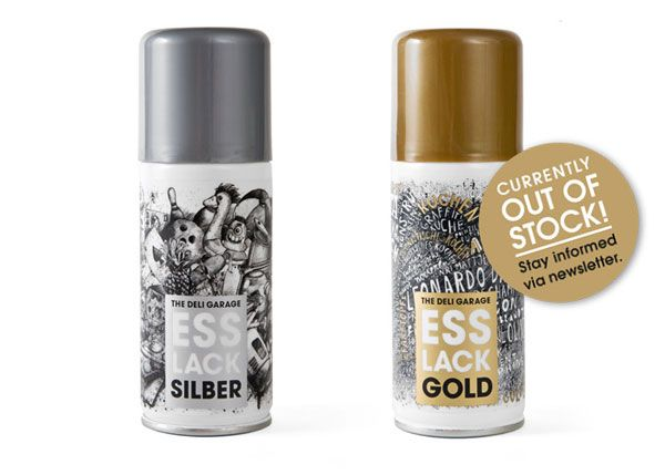 Edible gold and silver food coloring spray paint | Futuristic ...