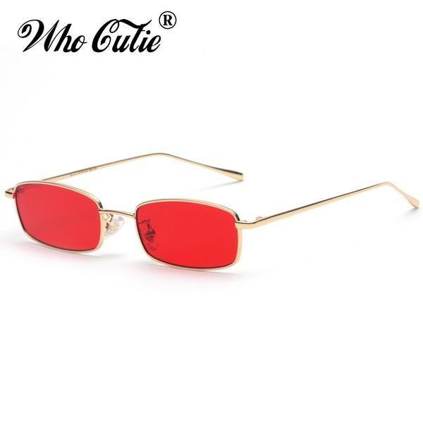 Small Slim Sunglasses Women Brand Designer Elegant Pink Clear Lens Sun Glasses Shades jVf4z3