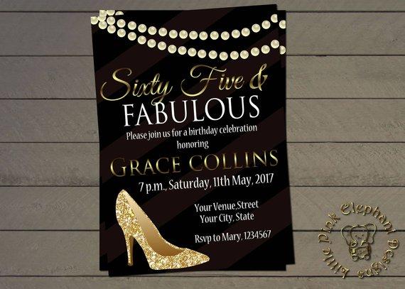 Fabulous 50 Invite 40 At 65th