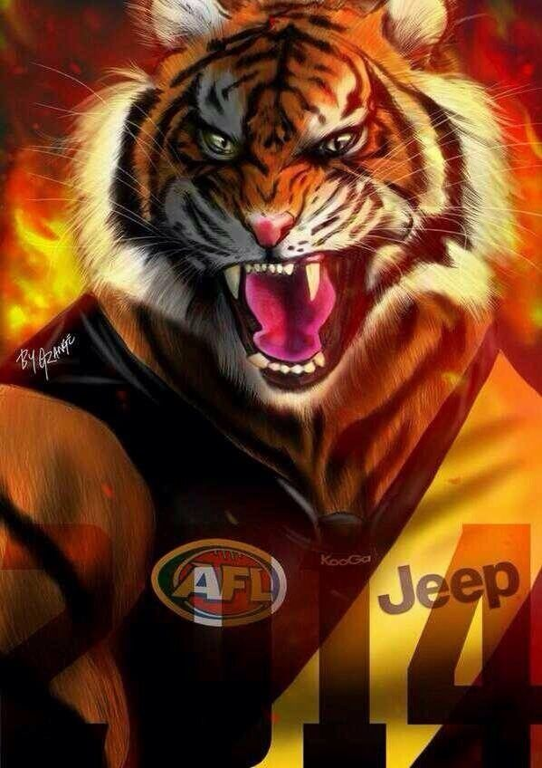 Richmond Tigers Richmond Football Club Richmond Afl Tiger Football