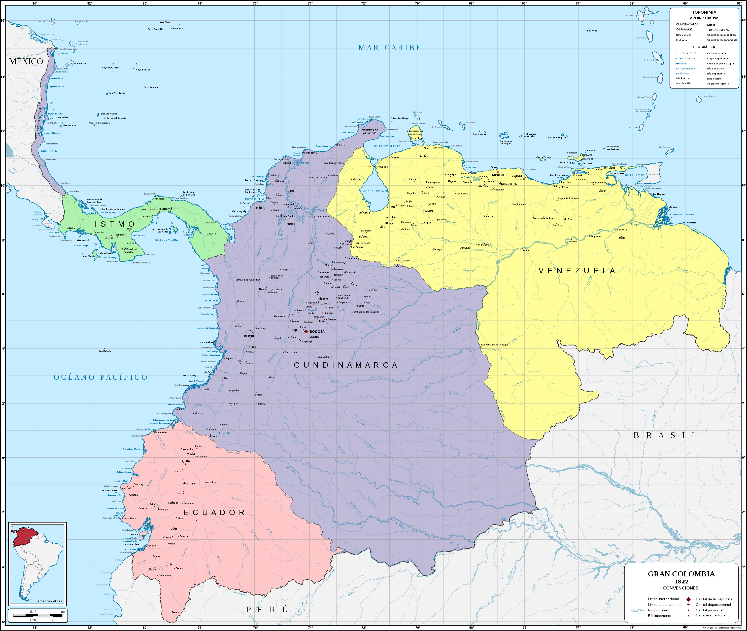 gran colombia in 1822