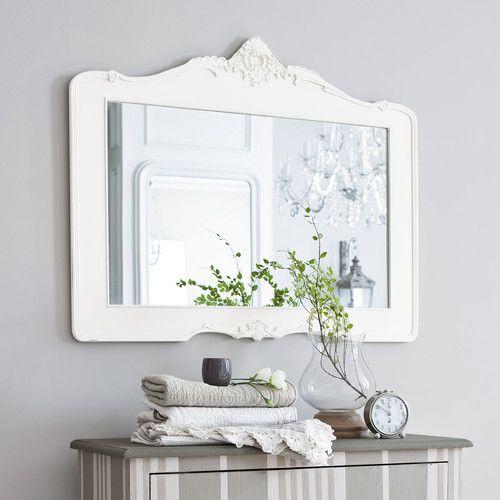 miroir en rsine blanc h 80 cm romantica maisons du monde miroir sdb filles si on ne rutilise pas le ntre 8999