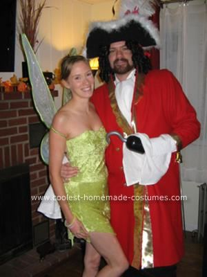 26b3307a6 Coolest Homemade Tinkerbell and Captain Hook Couple Costumes ...