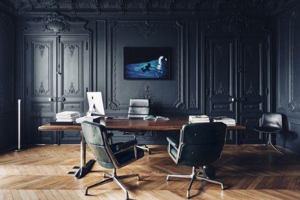 id es d co des moulures et boiseries noires livingroom ideas pinterest boiserie noire. Black Bedroom Furniture Sets. Home Design Ideas