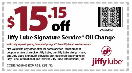 Oil Change Coupons Colorado Springs >> Jiffy Lube Coupon Online For June Coupon Pictures
