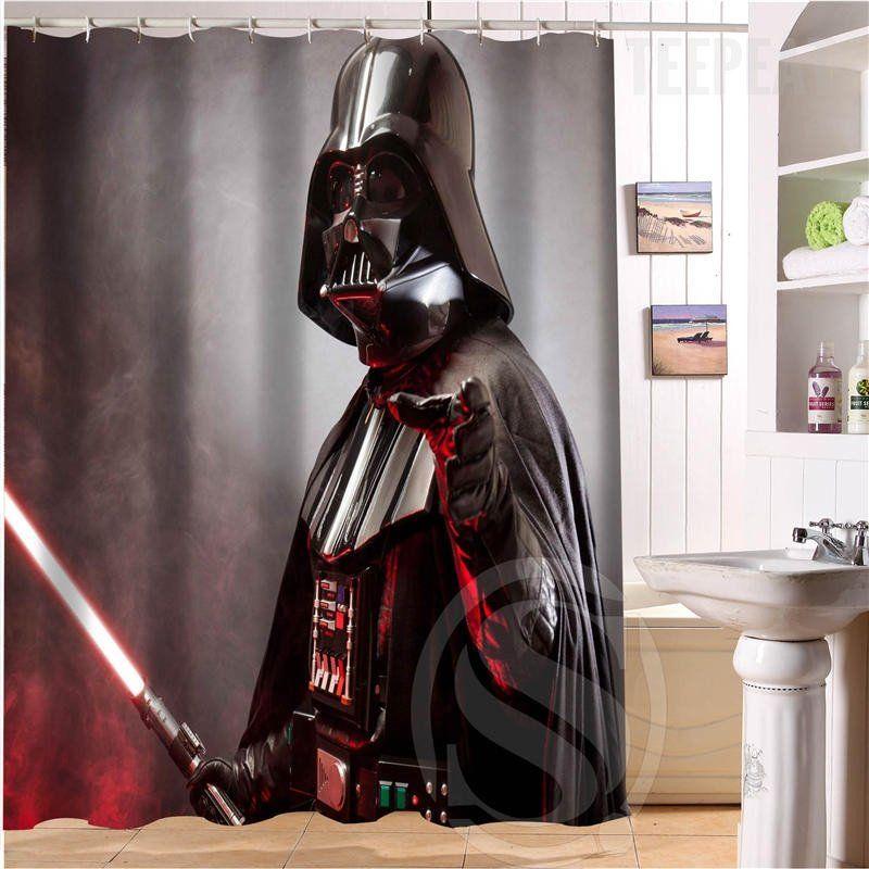 Star Wars Darth Vader V2 Shower Curtain Star Wars Shower