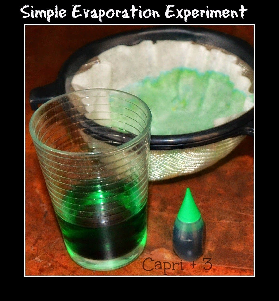 Simple Evaporation Experiment That Can Be Used As Part Of A Weather Lesson