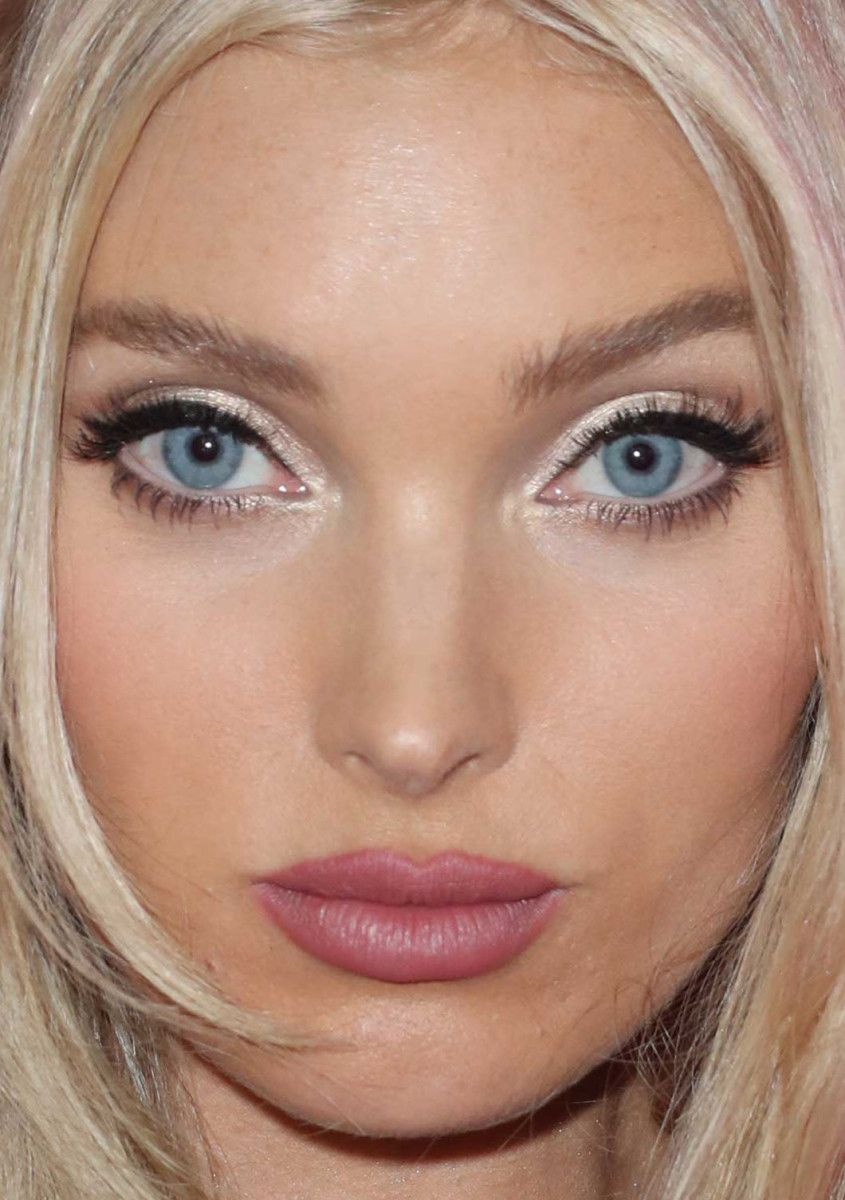 From short hair to tousled waves 26 of the best celebrity beauty close up of elsa hosk at the 2017 victorias secret fashion show after party baditri Image collections