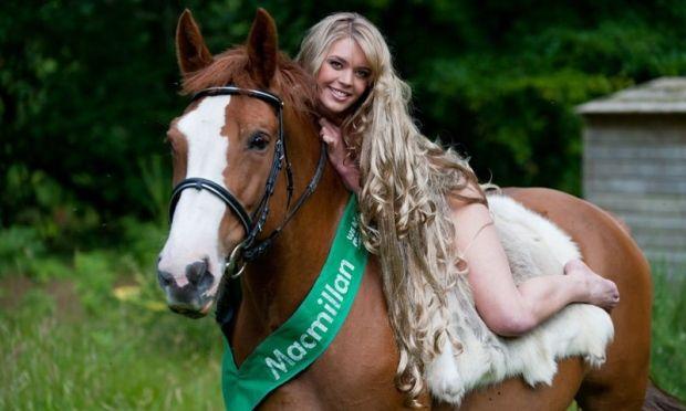 Scottish Model Danni Menzies Dared To Bare As Godiva In Fund Raising