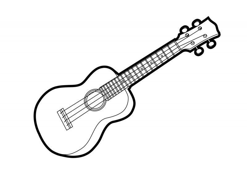 Ukulele Outline Vector Illustration Superawesomevectors Ukulele Art Ukulele Drawing Ukulele