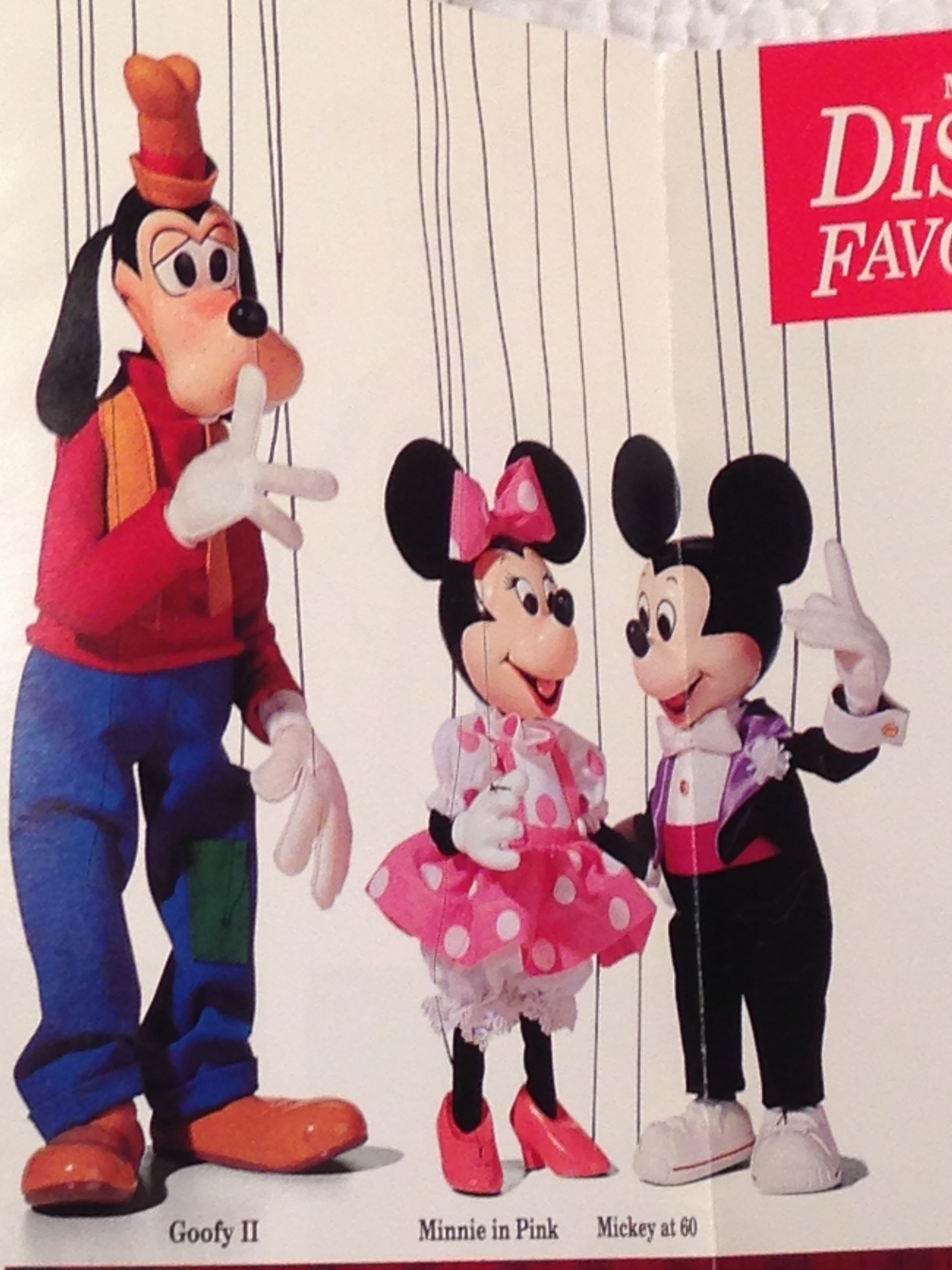1ad194ec6 Disney's Bob Baker Marionette Collection - Goofy, Minnie in Pink, Mickey at  60