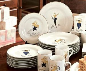 Pottery Barn. Reindeer collection. (Christmas plates from the day after Thanksgiving thru New & Pottery Barn REINDEER DINNER PLATES Set of 8 Christmas | Pottery ...