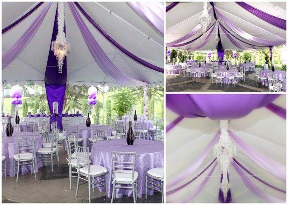 Purple striped tent · Purple Birthday PartiesIdeas ... & Purple striped tent | Color Palette: Purple | Pinterest | Tents ...