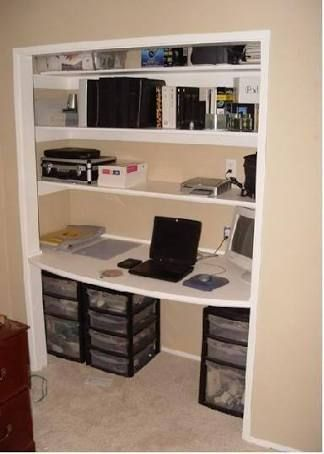 Image Result For Convert Built In Wardrobe To Craft Desk Home Office Closet Guest Room Office Home